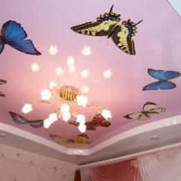 с фотопечатью бабочек