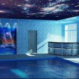 звездное небо в бассейне