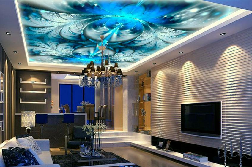 художественный натяжной потолок